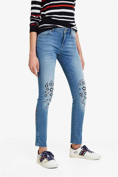 džínsy Desigual Laurence denim medium light