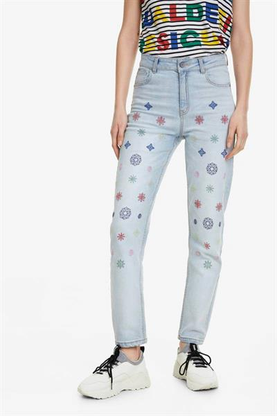 džínsy Desigual Rhomb denim medium light