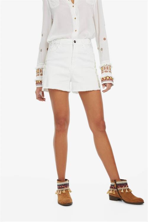 šortky Desigual Évora jeans white