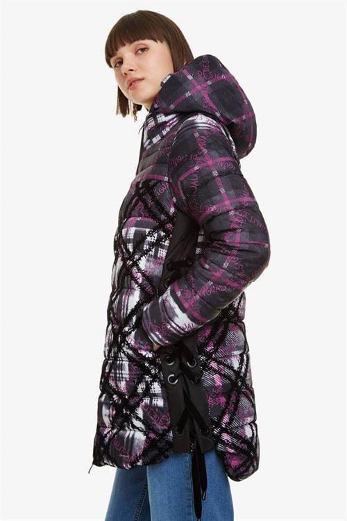 kabát Desigual Inaya neutral gray