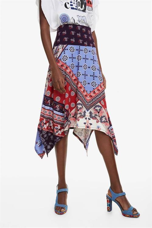 sukně Desigual Foulard marino