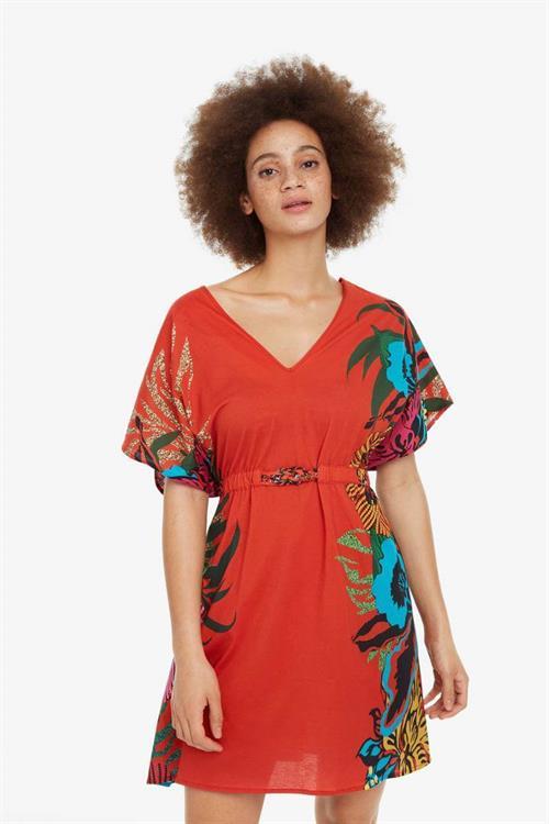 plážové šaty Desigual Valeria rojo roja