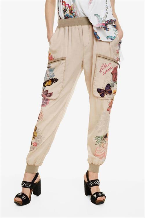 kalhoty Desigual Eddy 2 sahara
