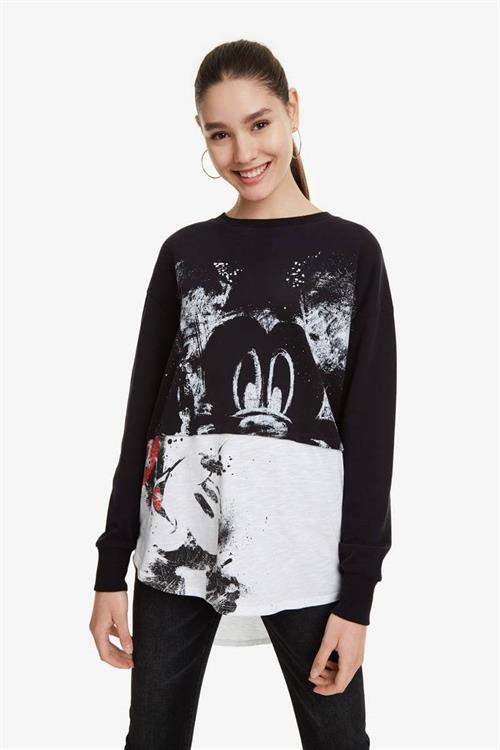 mikina Desigual Mickey negro