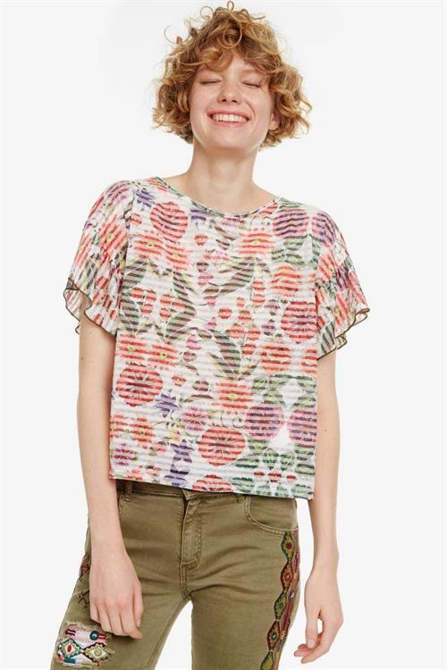 tričko Desigual Karina blanco