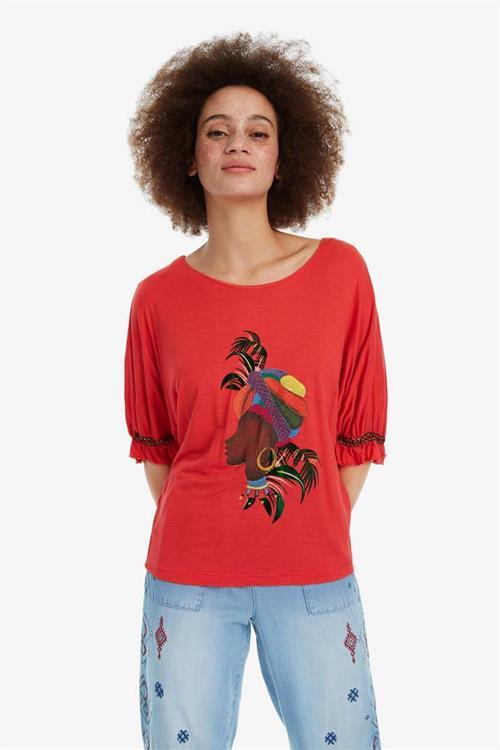tričko Desigual Kahua orangery