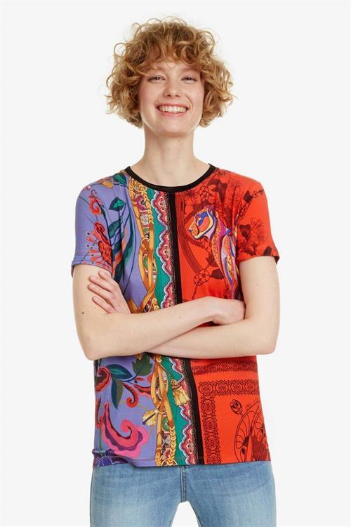 tričko Desigual Craft carmin