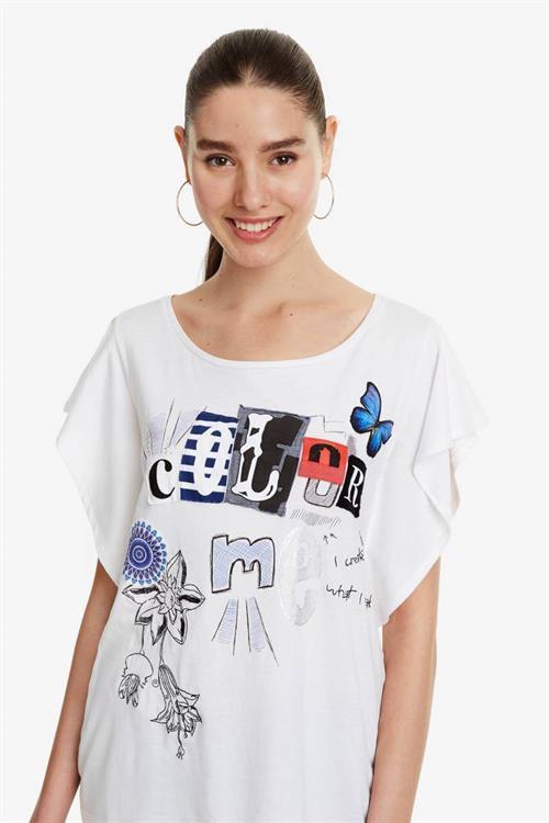 tričko Desigual Graziana blanco