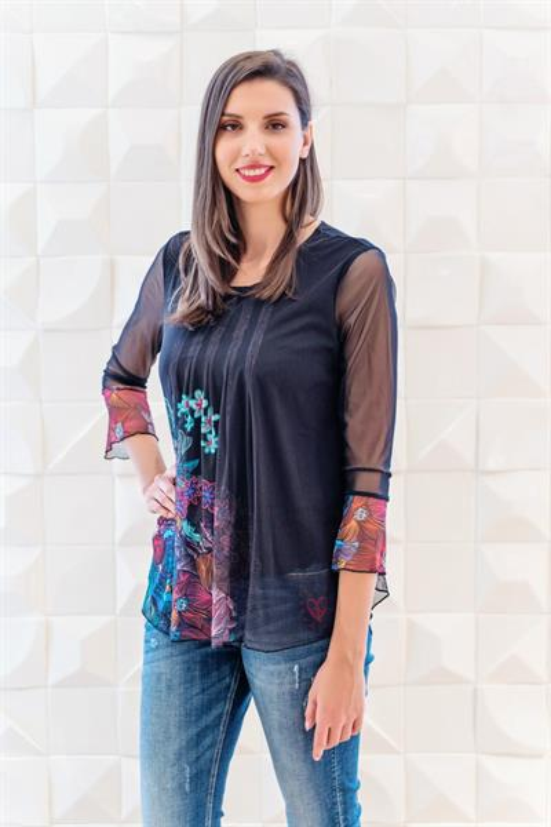 tričko Desigual Amanda negro