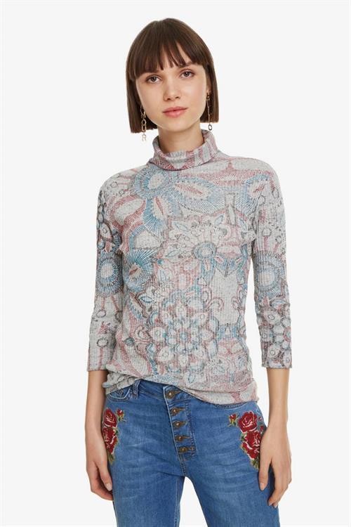 tričko Desigual Brooklyn gris vigore claro