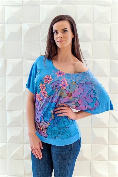 tričko Desigual Noelia azul dali