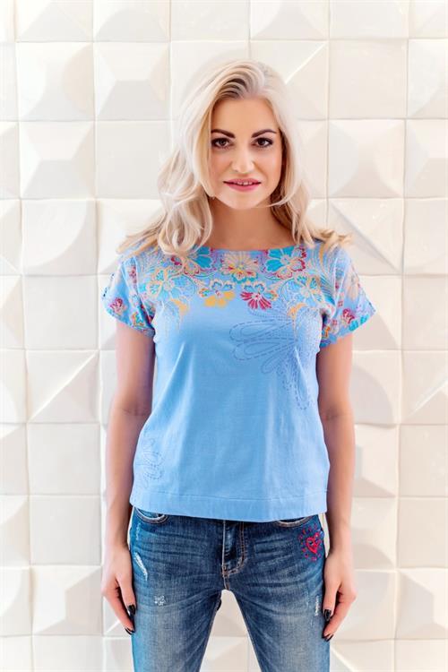 tričko Desigual Helena azul dali