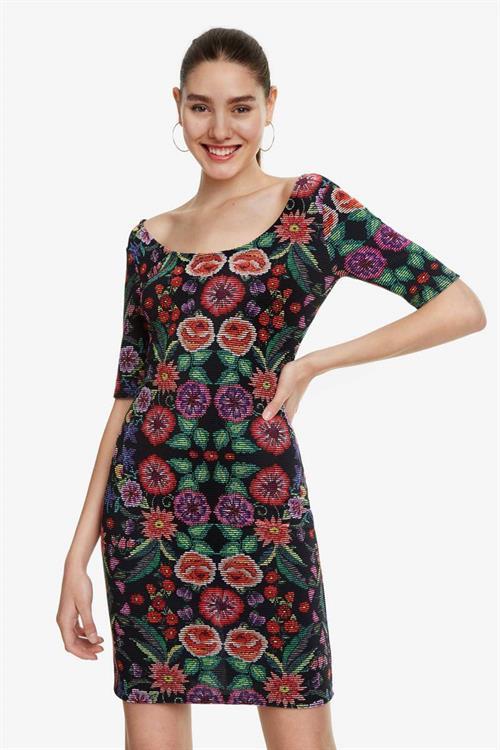 šaty Desigual Garden negro