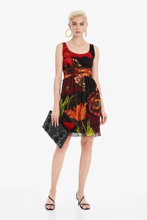 šaty Desigual Florecilla negro