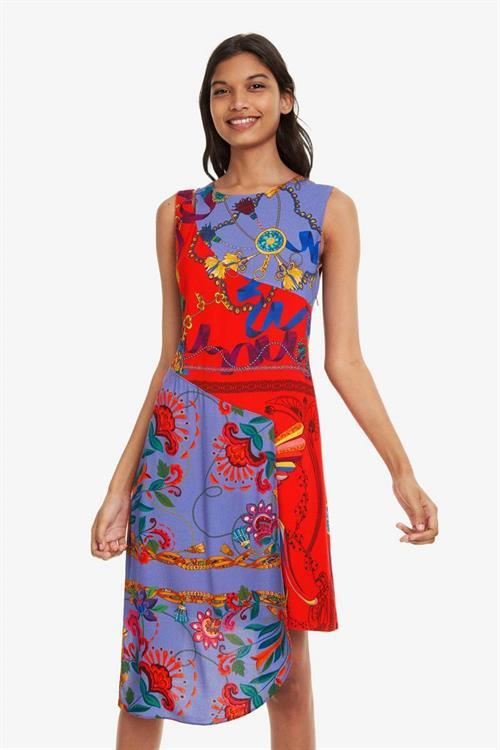 šaty Desigual Tiwa carmin