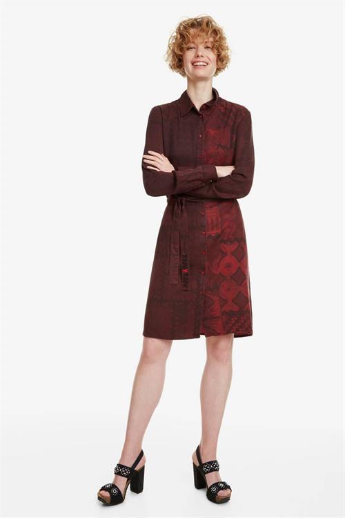 šaty Desigual Erin borgona