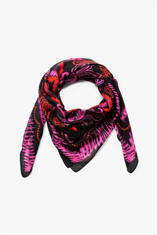 šátek Desigual Bandana negro