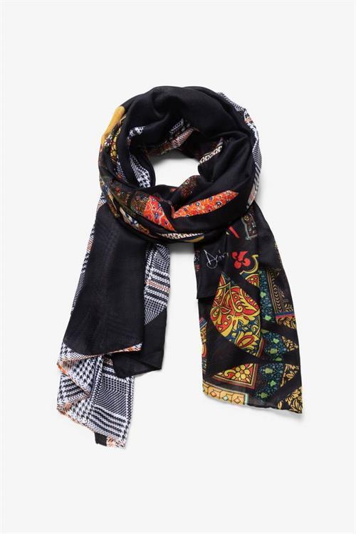 šátek Desigual Mandala Patch negro