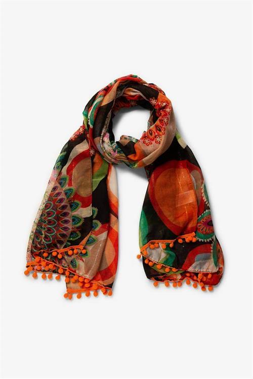 šátek Desigual Color Stones negro