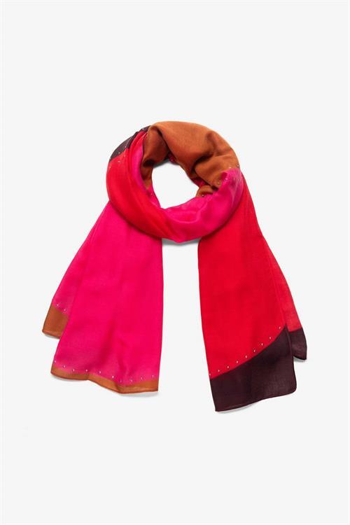 šátek Desigual S-Patch rojo loft