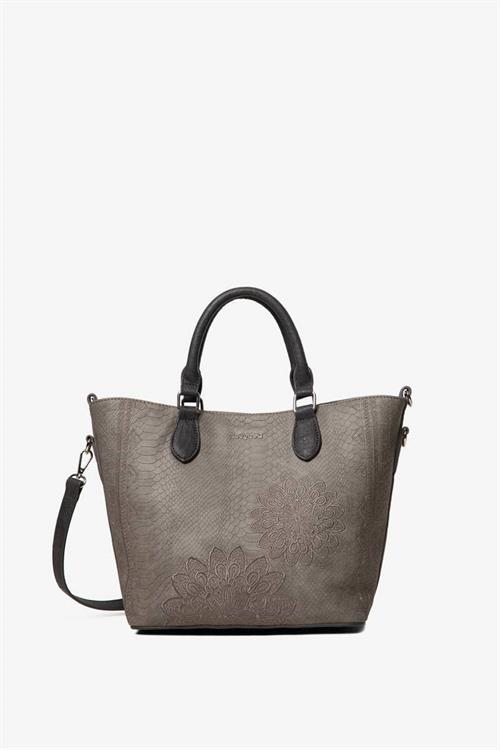 kabelka Desigual Aquiles Flo gris medio