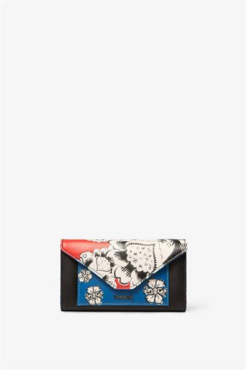 peňaženka Desigual Blomming Winter Leng negro