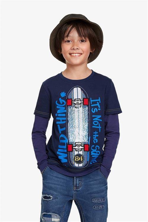 tričko Desigual Omar navy