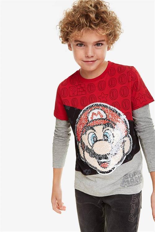 tričko Desigual Mario rojo