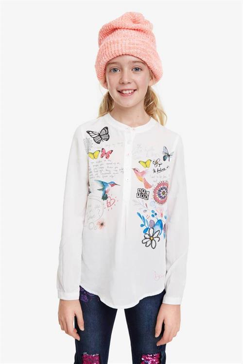 košile Desigual Carsoncity blanco