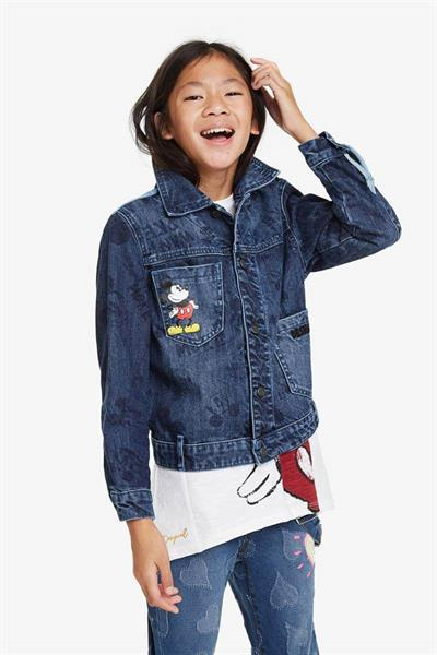 bunda Desigual Mickey denim light wash