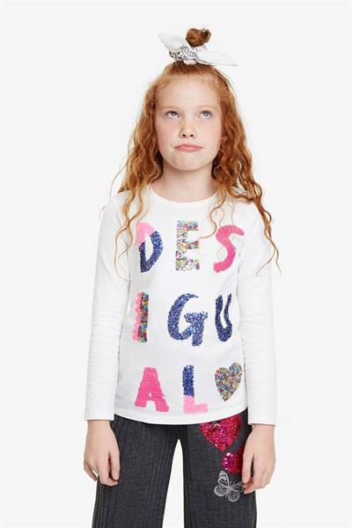 tričko Desigual Southendonsea blanco