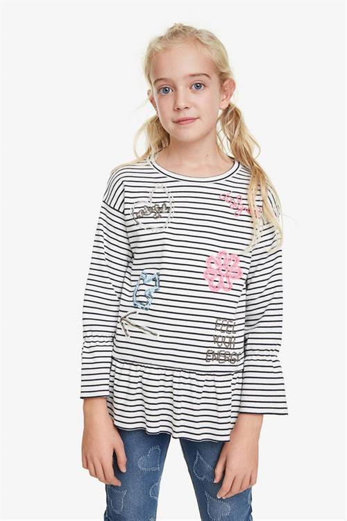 tričko Desigual Blackpool blanco