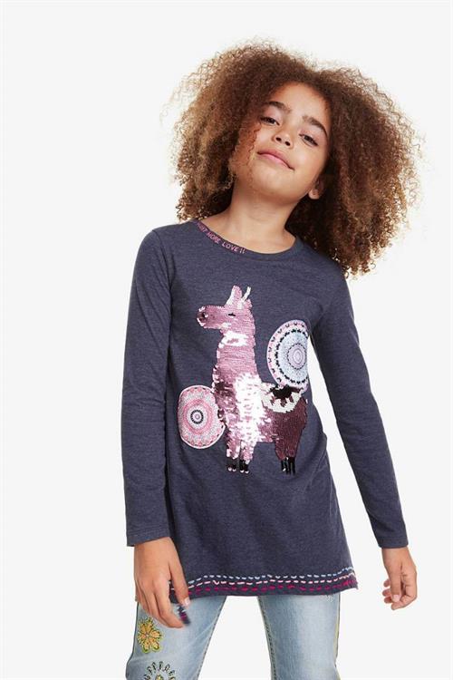tričko Desigual Nicolas gris oscuro