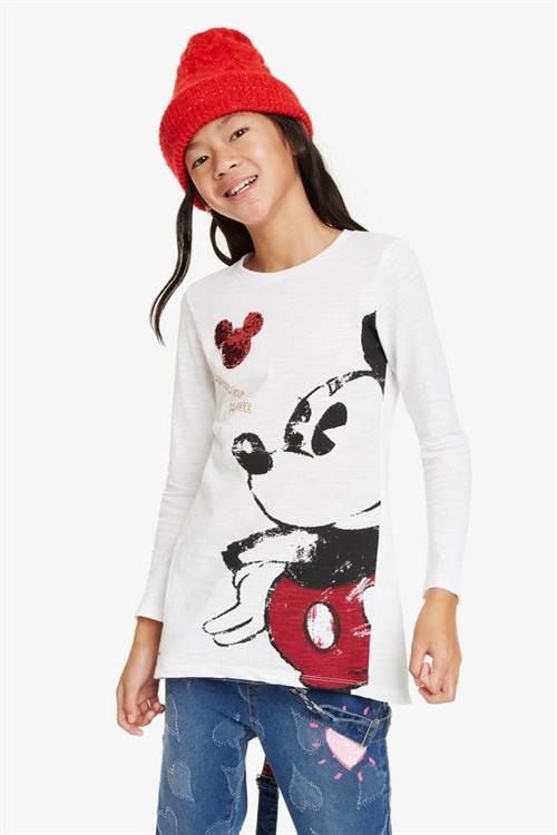 tričko Desigual Mickey blanco