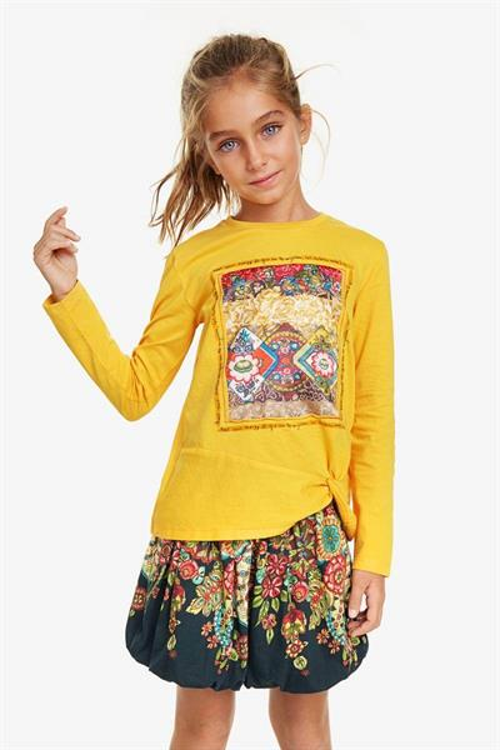 tričko Desigual Guaymas amarillo trigo