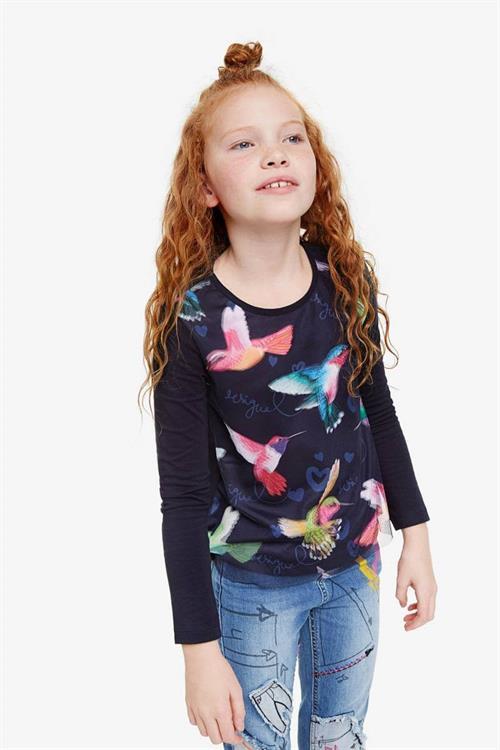 tričko Desigual Colibri navy