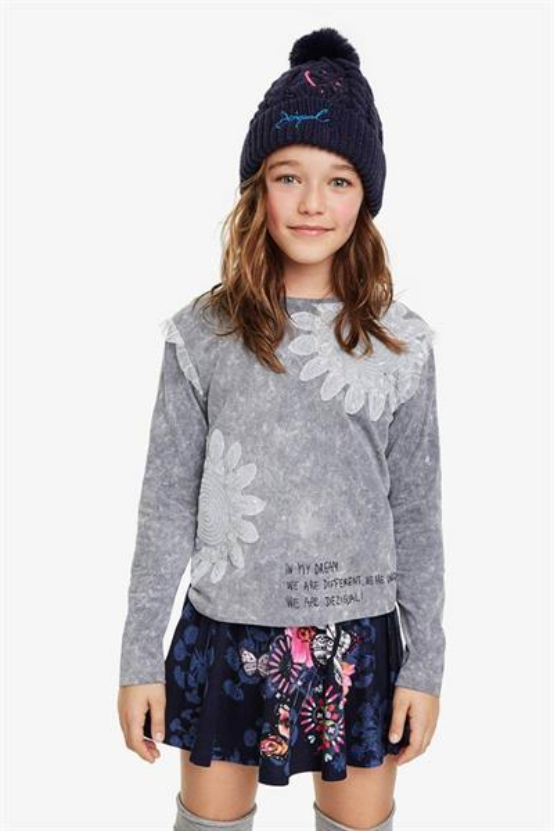 tričko Desigual Montbau glaciar grey