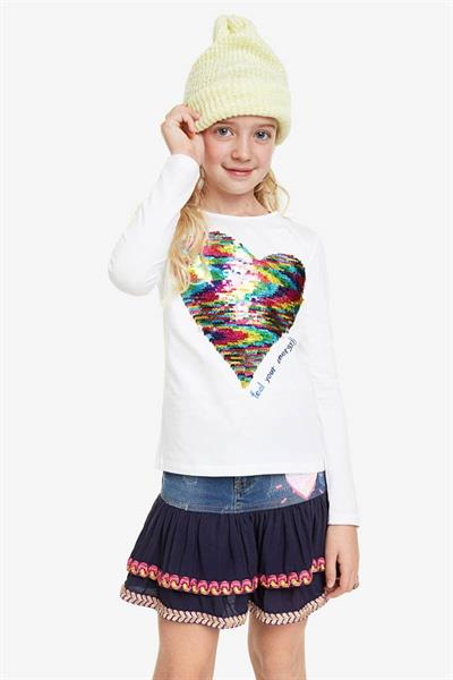 tričko Desigual Virginia blanco