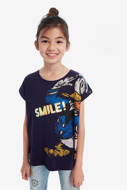 tričko Desigual Donald navy