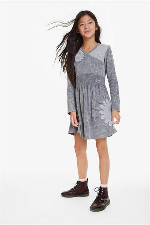 šaty Desigual Sagrera glaciar grey