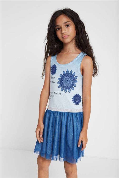 šaty Desigual Cielo azul palo