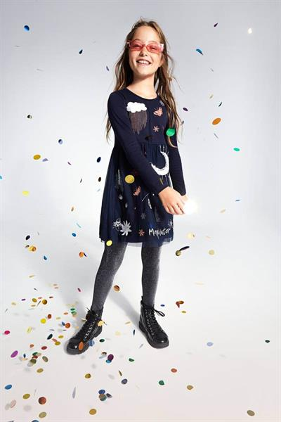 šaty Desigual Winter navy