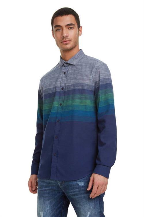 košeľa Desigual Tristan navy