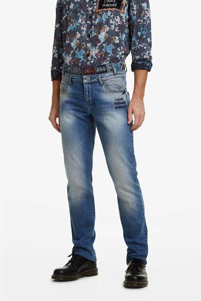 jeansy Desigual Aitor denim dark blue