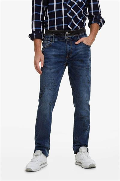 jeansy Desigual Alfons denim medium wash