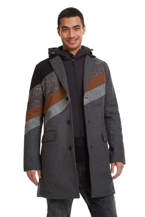 kabát Desigual Atila gris vigore oscuro