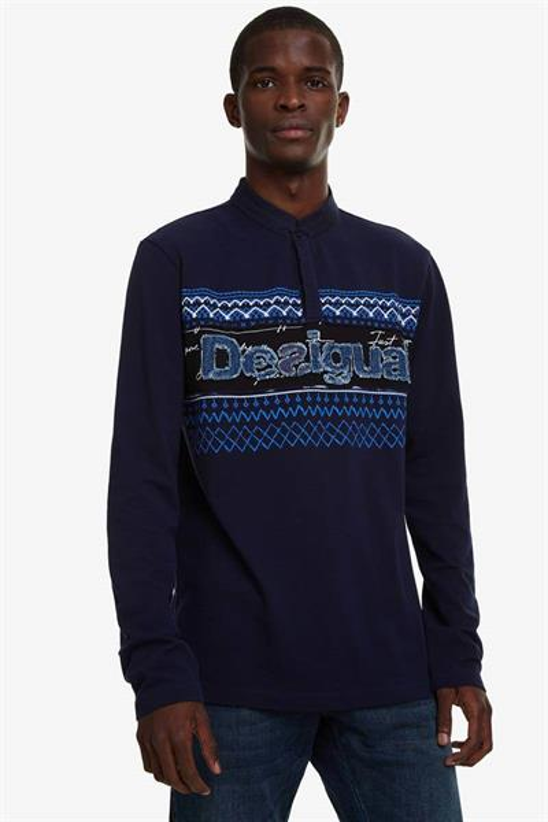 tričko Desigual Blas navy