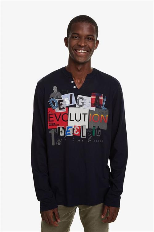 tričko Desigual Sante navy