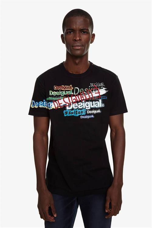 tričko Desigual David negro