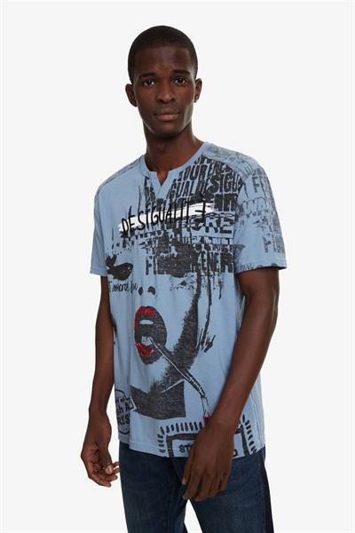 tričko Desigual Demeter celeste